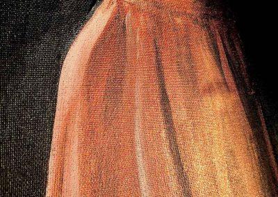 """Détail de la peinture """"La robe"""""""