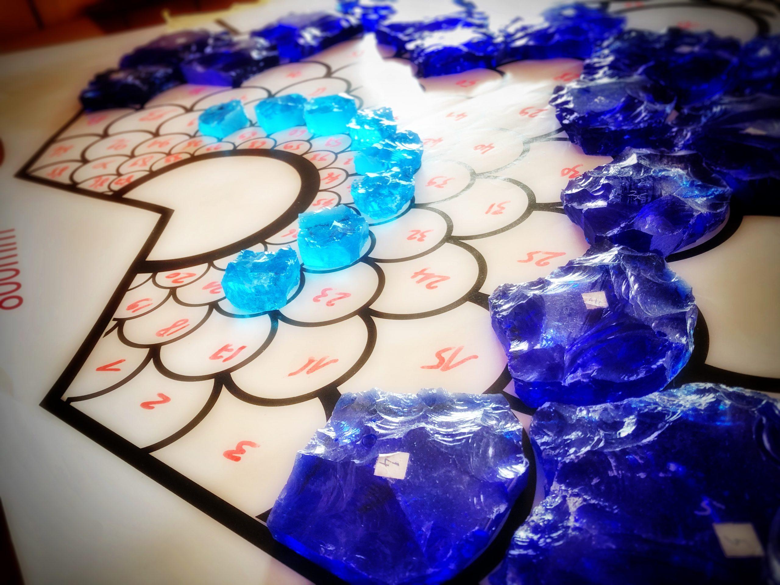 plan de dalles de verre